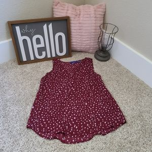 Apt 9 Red and White Polka Dot Size Petite Small